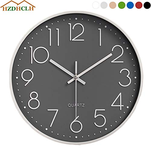 HZDHCLH Wall Clock 12 Inch Silen...