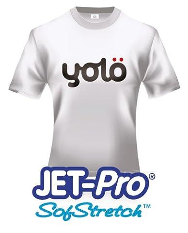10 x A4 Sheets of Jet-Pro® Sofstretch Inkjet Heat Transfer Paper / T-Shirt Transfers
