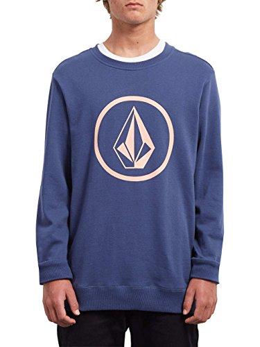 Volcom Herren Stone Crew Sweatshirt, Matured Blue, M Volcom-print-sweatshirt