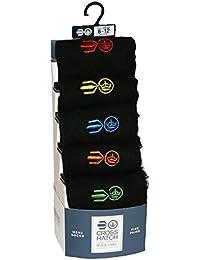 Crosshatch Men's Horizontal 5-Pack Socks
