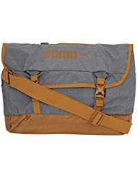 PUMA Polyester 37 cms Puma Black-Buckthorn Brown Messenger Bag (7543701) d9589bcb44bd6