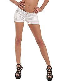 10021 Fashion4Young Damen Sexy Stretch-Denim Hotpants Short kurze Hose verfügbar in 5 Gr. 6 Farben