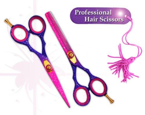 Professionnel Ciseaux de coiffure cheveux Ciseaux Ciseaux Barber Salon 14 cm Rose Neige en acier japonais \\