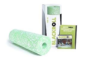 BLACKROLL MED 45 Faszienrolle  - das Original (Härtegrade weich) - Die softe Selbstmassage-Rolle für die Faszien in weiß/grün