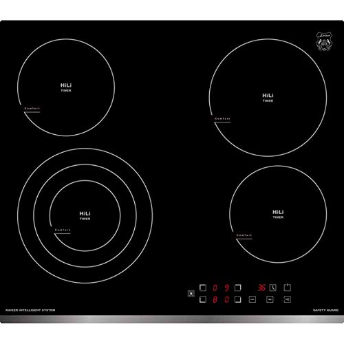 Kaiser KCT 6703 F Hi Light Glaskeramik Kochfeld 60 cm/Autark /4 Kochzonen/Einbau Kochfeld/Funktionsdisplay/Frontfacette/Einbau Herd/Full Touch Control/Kochfeld/Winner German Brand Award 2018