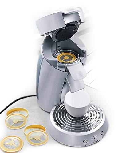 UPP Kaffee-Pads Kaffeepads Kaffeefilter wieder verwendbar befüllbar für Kaffeemaschine Padmaschine aus Kunststoff 4 Stück