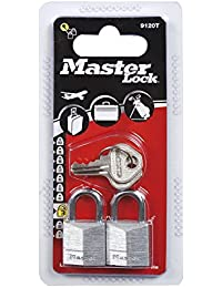 Master Lock 9120EURT 2 Cadenas aluminium 20 mm