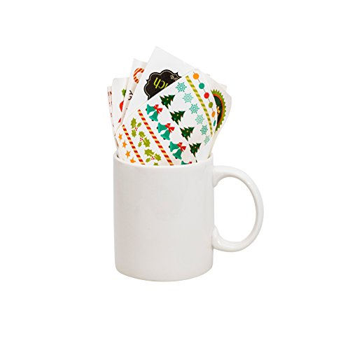 Thumbs Up Tasse Make a Christmas Mug (inkl. Sticker), Keramik, weiß 12 x 9.5 x 8 cm