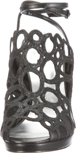 Stuart Weitzman Circular, Sandali donna nero (Schwarz/black miniglitter) ...
