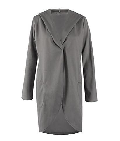 SunIfSnow - Manteau - Duffle coat - Uni - Manches Longues - Femme - gris - XXXX-Large
