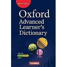 Oxford Advanced Learner's Dictionary - 9th Edition: B2-C2 - Wörterbuch (Festeinband) mit Online-Zugangscode: Inklusive Oxford Speaking Tutor und Oxford Writing Tutor