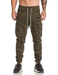 cfba0de511 Hombre Pantalón Deportivo Jogger Militar Camuflaje Estilo Urbano Pantalones  Casuales para Hombre Chándal de Hombres Xinan