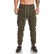 d9a3f9d0b3 Hombre Pantalón Deportivo Jogger Militar Camuflaje Estilo Urbano Pantalones  Casuales para Hombre Chándal de Hombres Xinan