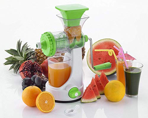 Souxe Plastic Fruits and Vegetable Juicer with Steel Handle (Large, Multicolour)