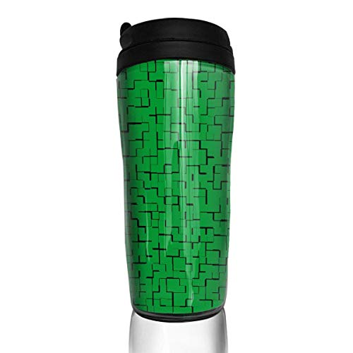 Travel Coffee Mug Lybia Flag Puzzle 12 Oz Spill Proof Flip Lid Water Bottle Environmental Protection Material ABS