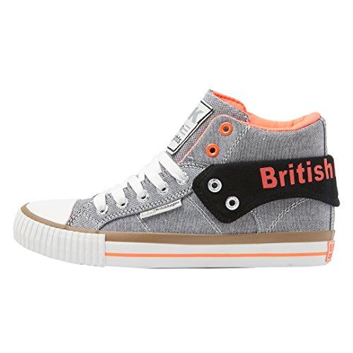 BRITISH KNIGHTS Sneaker 'Roco' hellgrau / neonpink