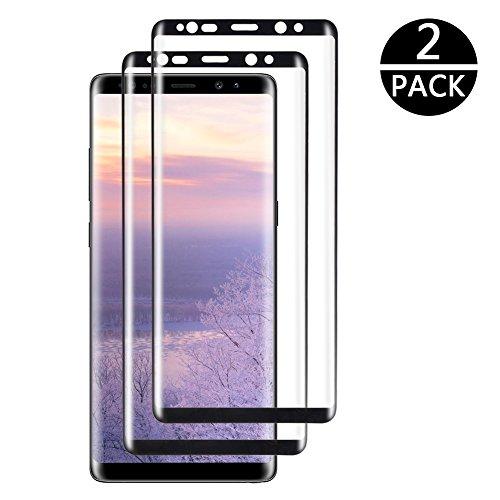 [2 Stück] Neejolie Schutzfolie Panzerglasfolie Samsung Galaxy Note 8 Panzerfolie, Panzerglas Displayschutzfolie Anti-Kratzen, Anti-Öl,99% Transparenz, 9H Echt Glas(Schwarz)