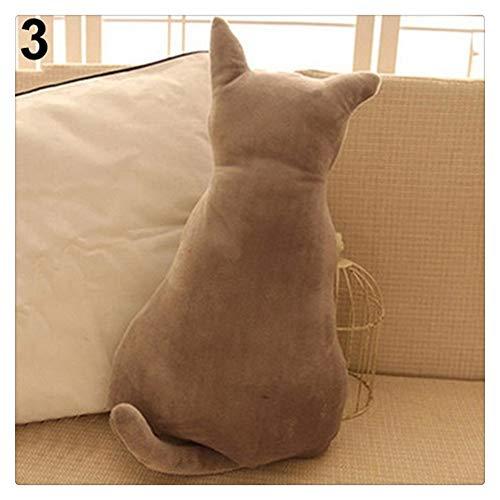 MINGYUECHAO Cat Soft Plush Toy Back Shadow Toy Pillow Cojín...