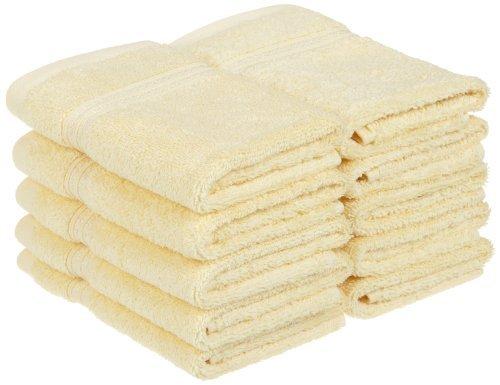 Collection 100% Coton peigné à Fibres Longues Serviette de Visage Lot DE 10 pièces de qualité supérieure, Canary par supérieure