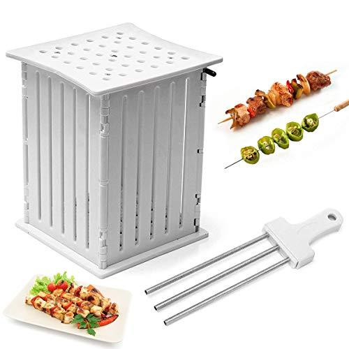 BBQ Grill Shish 36-Löcher-Box für Fleisch, Fisch Obst Vegetables Spieße