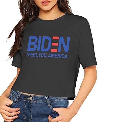 Joe Biden Feels America Women's T - Shirt,Women's Cropped Top Leaking Navel T-Shirt Joes Jean Cropped Pant