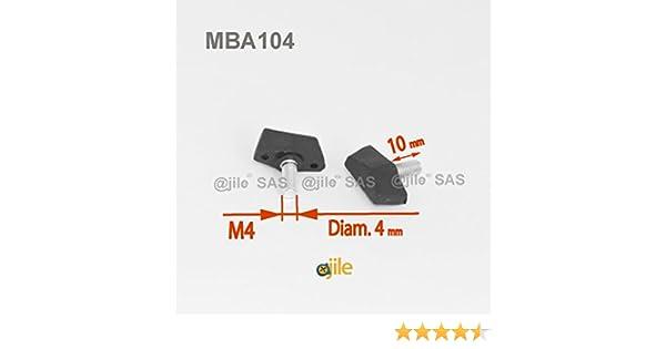 2 VIS PAPILLON TETE PLASTIQUE ACIER M4 M5 M6 MANCHERON BLOCAGE BRANCARD 4 5 6 MM