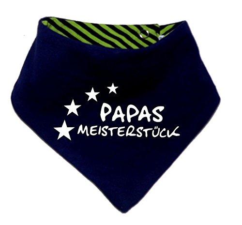 Kinder Wendehalstuch uni/gestreift (Farbe navy-lime) (Gr. 1 (0-74)) Papas Meisterstueck /FAT