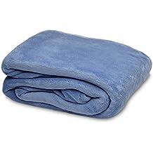 Burrito Blanco - Sábana bajera de Coralina 1 para cama de 180x190/200 cm, color azul