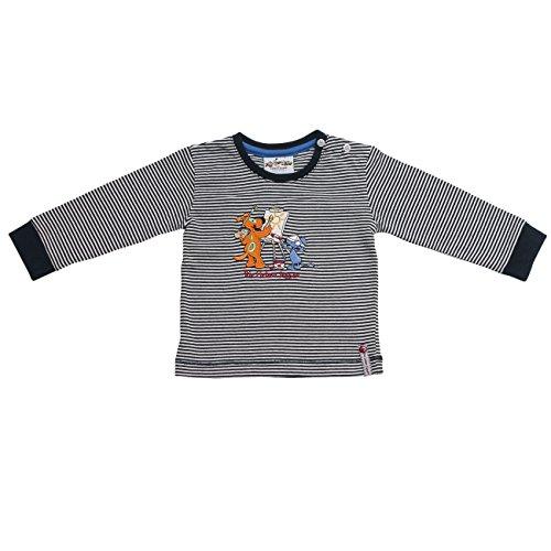 Die Lieben Sieben by Salt & Pepper Unisex Baby T-Shirt L7 Longsleeve Stripe, Blau (Navy 474), 62