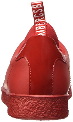 BIKKEMBERGS Herren Best 596 L.Shoe M Leather (with Socks) Durchgängies Plateau Pumps, Bianco Rot (Rosso)