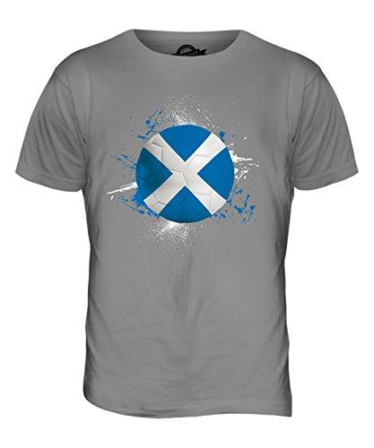 CandyMix Schottland Fußball Herren T Shirt Hellgrau