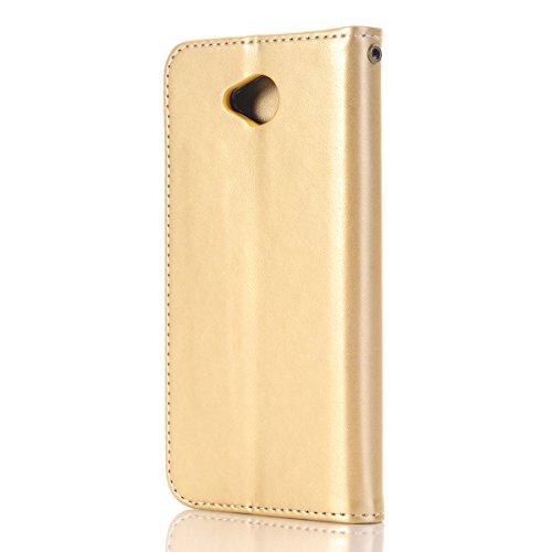 Coque pour Microsoft Lumia 650,Nokia N650 PU Cuir Coque Rose Fleur Motif Housse Etui,Ukayfe Etui de Protection PU Cuir Coque Etui Folio Bookstyle Housse Coque de Protection Housse à Rabat Coque Portef d'or