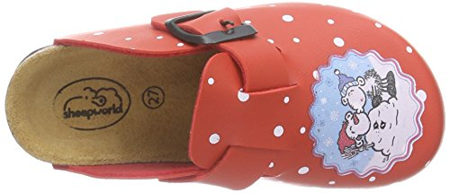 Sheepworld 500220, Mules fille Rouge - Rouge