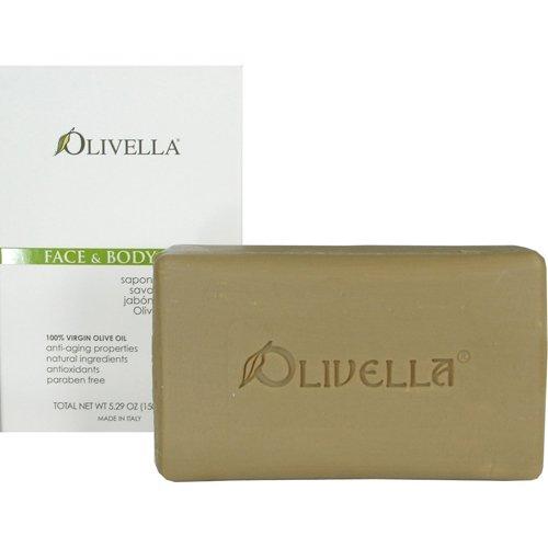 Olivella 100% Virgin Olive Oil Face & Body Bar Soap (1 bar)