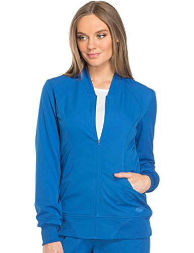 Dynamix By Dickies Women's Zip Front Warm-Up Solid Scrub Jacket Xx-Large Royal (Scrubs Zip Dickies)