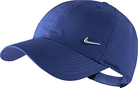 Nike 405043-455 Casquette Homme, Deep Royal Blue/Metallic Silver, FR : M (Taille Fabricant : M)