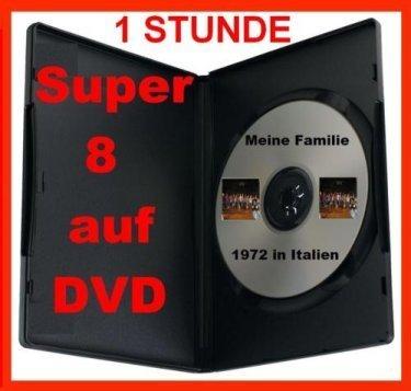 1 Stunde SUPER 8 auf DVD Projektor DIGITALISIEREN ÜBERSPIELEN KOPIEREN