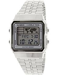 CASIO A500WA-7 - Reloj, para hombre, color plateado