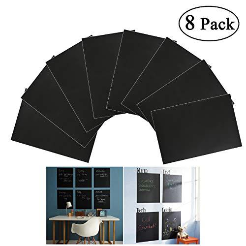 NUOLUX 8ST A4 Tafelfolie Selbstklebend Sticker abnehmbare Tafel Aufkleber Wandaufkleber mit 1 Kreide (schwarz)