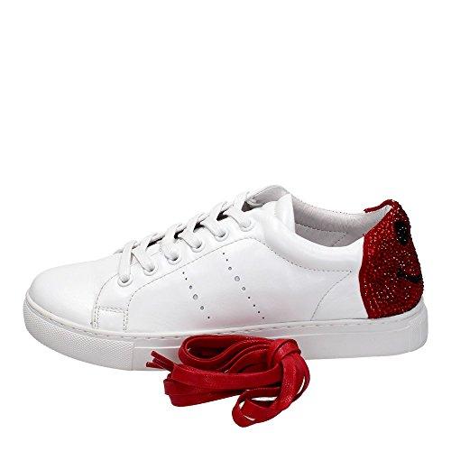 Lola Cruz 238Z10BK Sneakers Donna Pelle Bianco Bianco 39