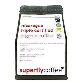 SUPERFLY – Nicaraguan Triple Certified Organic Bulletproof Coffee | 250g Ground | Single Origin Arabica | Fairtrade…