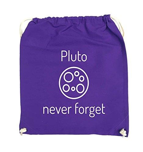 Borse Comiche - Pluto Mai Dimenticare - Borsa Girevole - 37x46cm - Colore: Nero / Argento Viola / Bianco