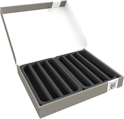 Feldherr Lagerbox FSLB040 kompatibel mit Modelleisenbahnen, Loks und Fahrzeuge kompatibel mit Spur N liegend
