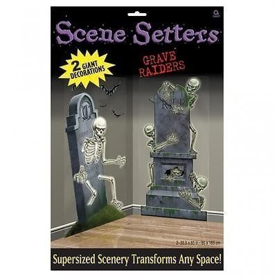 Halloween Friedhof Raiders Scene Setter Add on Verzierungen, 2 (Scene Halloween Setter)