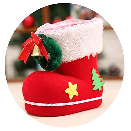 GZ Weihnachtsschmuck Kinder Süßigkeiten Stiefel Weihnachtsschmuck Kleines Geschenk Taschen Urlaub Weihnachten Socken,rot,Mittel