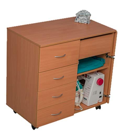 COMFORT | Mueble para máquina de coser | Armario de costura | (Brown Cassino Ash, 2.1M)