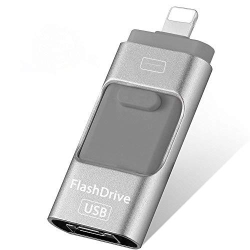 256 GB USB Flash Drive für iPhone Jump Drive Externer Micro USB Speicher Pen Drive USB Flash Memory Stick für iPhone, iPad, Android
