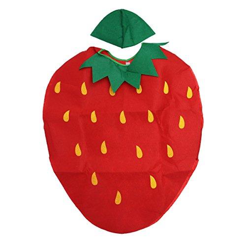 LUOEM Kinder Obst Gemüse Kostüm Kinder Party Cosplay Kleidung für Kinder Kleinkind Jungen Mädchen (Erdbeeren)