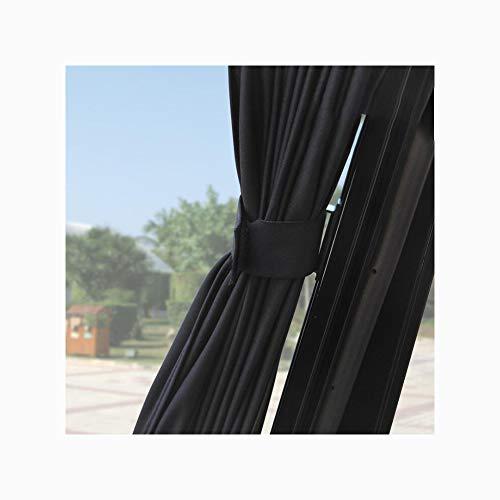 rhang, Schiene Typ Universal Schiebe Aluminium Fenster SashUv Datenschutz Für Sommer Zwei Pack,Black ()