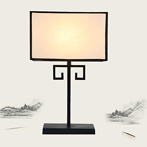 BBSLT Tabella cinese Lampade comodino studio camera da letto soggiorno imitazione classica in ferro battuto copre Lampade da tavolo retrò luce calda luce regolabile , desk lamp